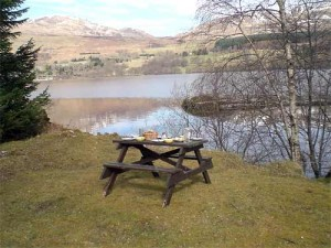 Picnic overlooking the loch